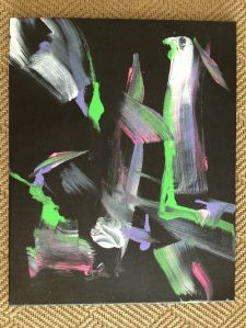 A little abstract expressionist number by Bubbles the chimp