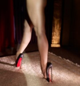 Christian Loubouton fetish shoes, photographed by David Lynch