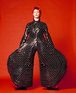 Striped bodysuit by Kansai Yamamoto for Bowie's 1973 Alladin Sane tour