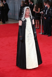 Grayson Perry arrives at the BAFTAs