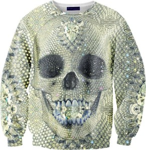 Sweater featuring artwork by Damien Hirst