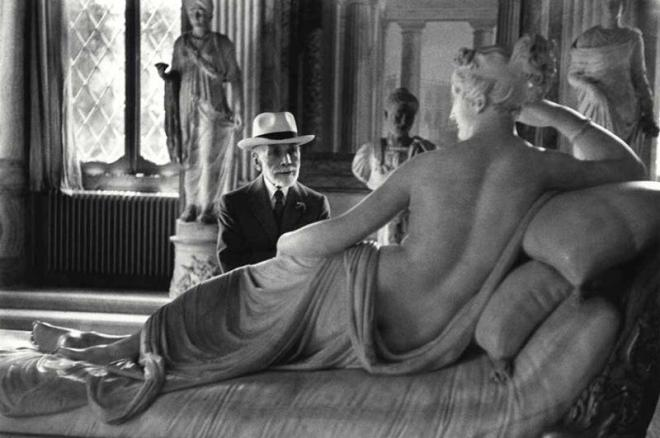 Chim (David Seymour), 'Bernard Berenson at the age of 90 in the Borghese Gallery, Rome', 1955