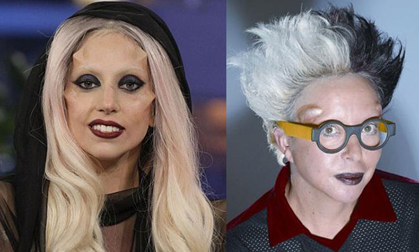Lady Gaga (left) and Orlan (right)