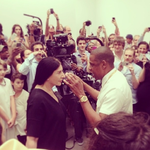 Jay Z faces off with Marina at Pace Gallery