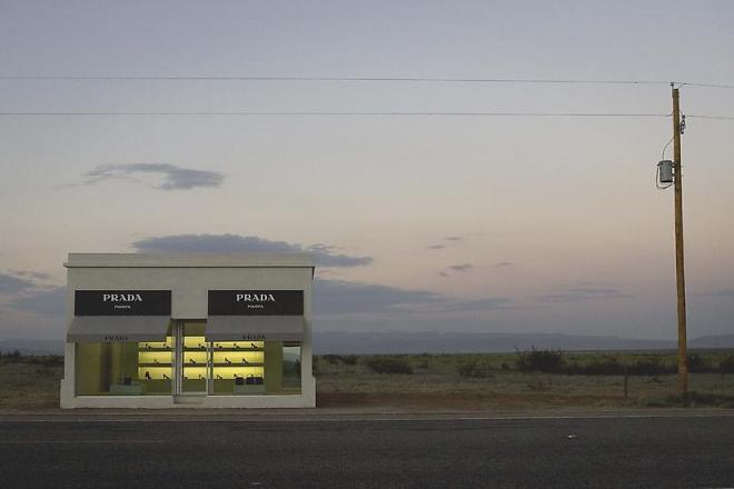 Installation view of Elmgreen and Dragset's 'Prada Marfa', 2005