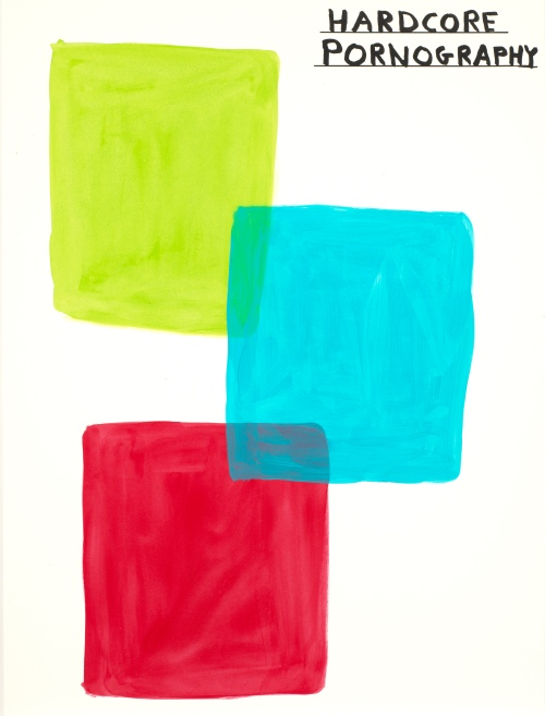 Untitled acrylic on paper by David Shrigley