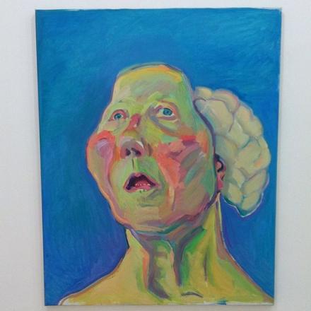 Maria Lassnig, 'Lady with a Brain', 200