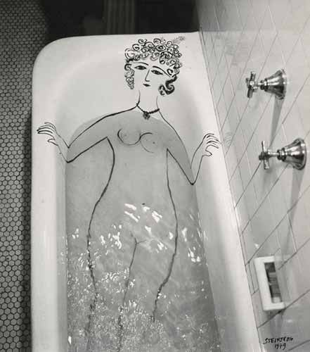 Saul Steinberg, 'Girl in Bathtub', 1949