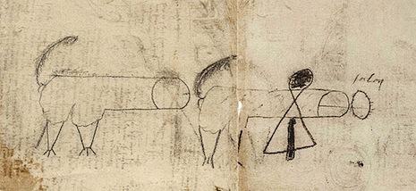 Lude drawing in one of Leonardo da Vinci's sketchbooks