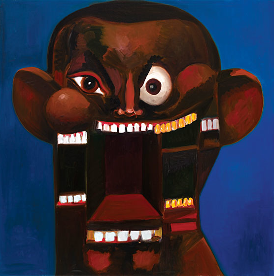 Portrait of Kanye West by George Condo