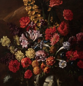 Porpora, Still Life with Flowers (detail)